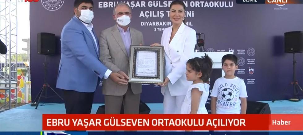 Ebru Yaşar Gülseven Ortaokulu açıldı: 'Mutluluğumuz tarif edilemez'