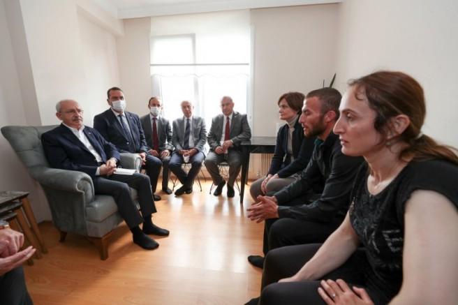Kılıçdaroğlu'ndan Evlice ailesine taziye ziyareti
